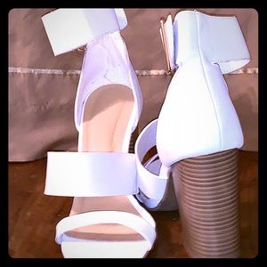 White heeled sandal